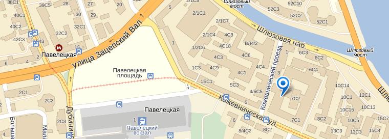 Схема проезда к магазину Polaroid в Москве